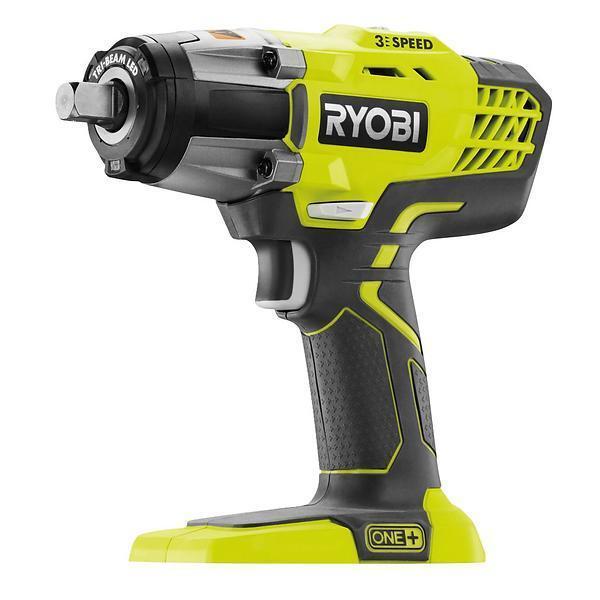 "Ryobi P261 18V One+ 3-Speed 1/2"" Cordless Impact Wrench w/ 300 LBS Of Torque"