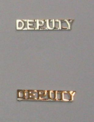 Police Deputy Sheriff Collar Brass Uniform Pins Gold 2