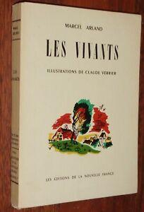 Marcel-Arland-LES-VIVANTS-illustre-Claude-Verrier-1945-numerote-TBE