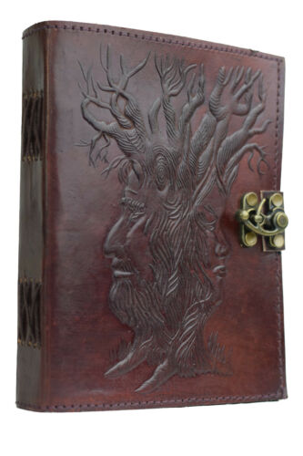 Baum Indien Lederbuch Tagebuch Vintage Antik Notizbuch NEUE PAPIERART Handarbeit