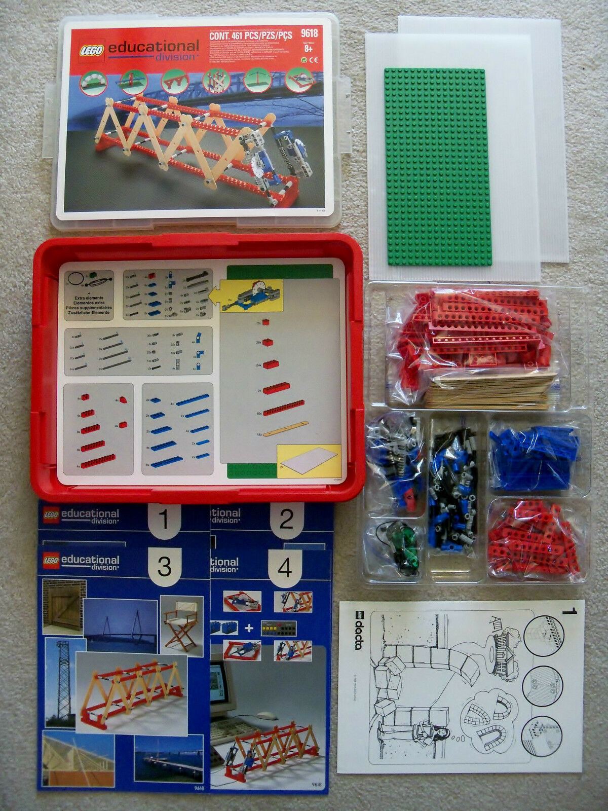 LEGO Educational Dacta Technic - Rare 9618 Structures Set - Complete w  Box