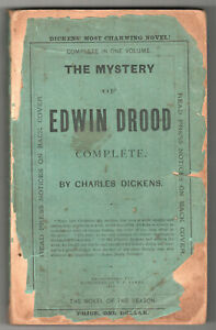 Rare-1874-THE-MYSTERY-OF-EDWIN-DROOD-Complete-CHARLES-DICKENS-Brattleboro-JAMES