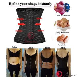 e5791318881 Women Waist Trainer Body Shaper Tummy Wrap Girdle Belt Belly Fat ...