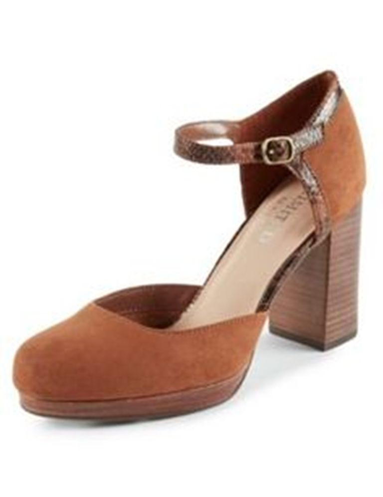 M&S Limited Edition Blocked Heel Faux Suede Two Pairs of Schuhes Größe UK6/EUR39.5