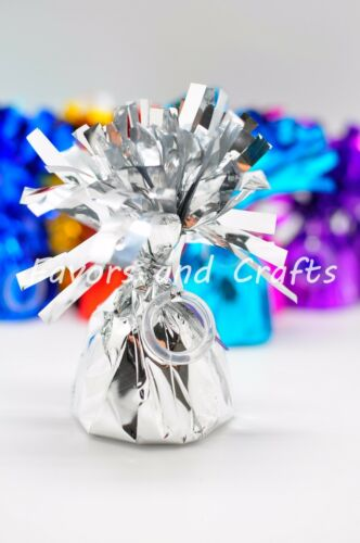 12 Balloon Weights Foil Baby Shower Gold Black Metallic Lot Arch CHOOSE COLOR
