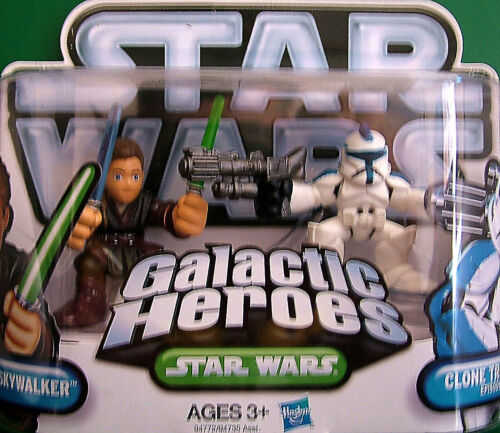 "Galactic Heroes /"" ANAKIN SKYWALKER /& CLONE TROOPER Episode II /"" NOC"