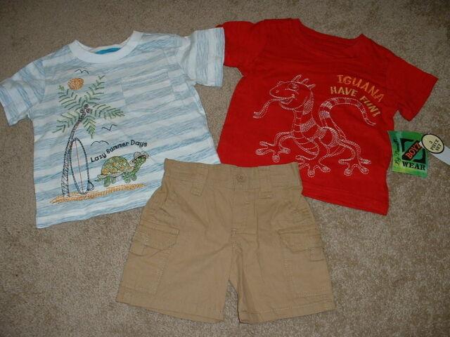 Baby Boys Nannette Boyzwear Summer Beach Outfit Set Size 12M 12 months NWT NEW