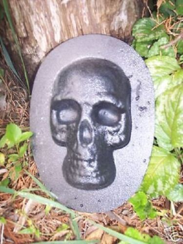 NEW small skull plastic mold plaster cement mould