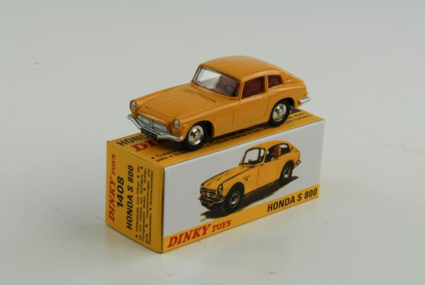 100% Vrai Honda S 800 Jaune Réf 1408 1:43 Dinky Toys Atlas