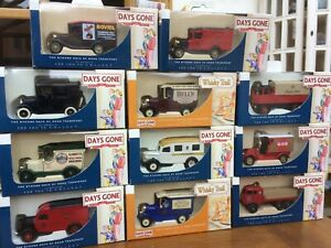 Lledo-dias-GONE-DG-Models-Ford-una-camioneta-Centinela-S6-Toro-Nariz-Morris-Bedford-Taxi