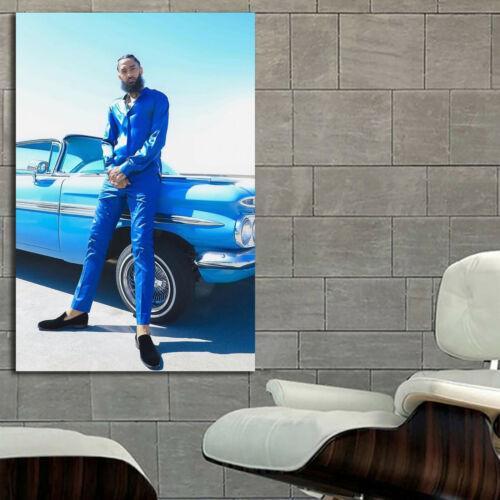 #22 Nipsey Hussle Rap Hip Hop Music Poster 36x48 24x36 Canvas Frame