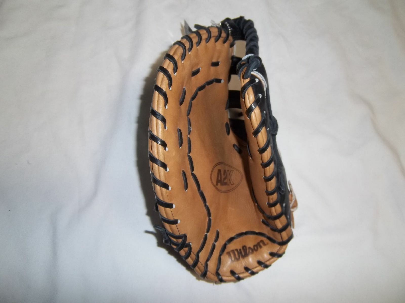 WILSON A2K 2802 BROWN TAN FIRST BASE MITT 12'  LH PLAYER GOES ON RIGHT  HAND