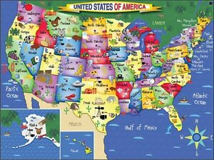 Jigsaw Puzzle Explore America Map Of The United States Piece - United state of america map