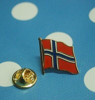 Norwegen Norge Pin Button Badge Anstecker Flaggenpin Anstecknadel Sticker