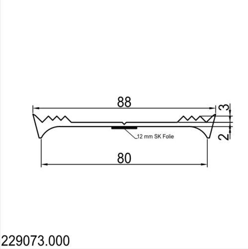 Caoutchouc Tirage joint Routage en caoutchouc unilatéralement auto-adhésif 80 mm édition