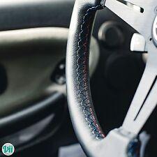*BMW TRI-COLOR STITCH** VIILANTE MODENA 350mm STEERING WHEEL LEATHER FITS E39 M5