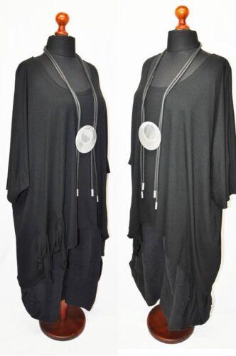 big Knoten shirt Nero Xxxxl Xxl ballon bänder tunika Lagenlook Bogen Xxxl F5qW4wTS