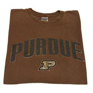 VTG-90s-Purdue-T-Shirt-Men-s-Large-College-Spell-Out-Official-Logo-Basketball-OG