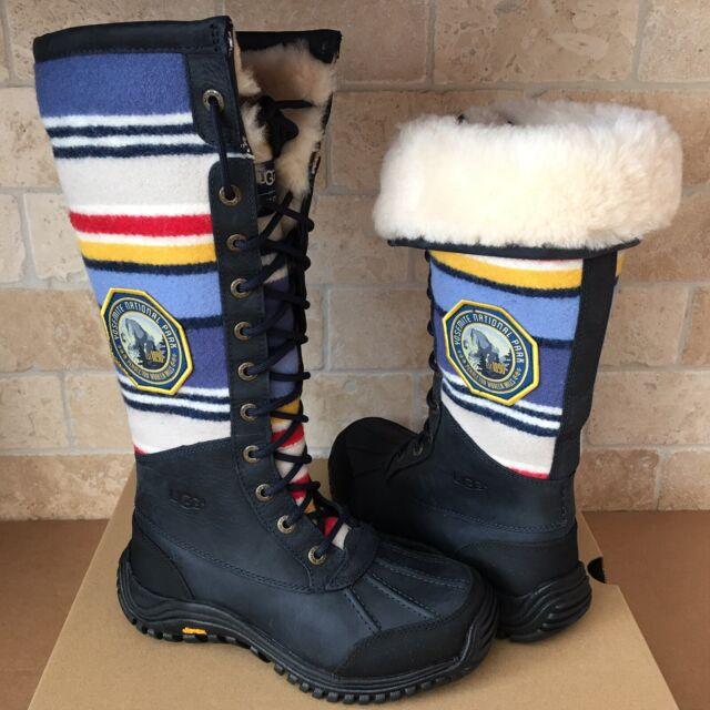 8424cf00cba UGG Adirondack Tall Yosemite Pendleton Navy Waterproof Snow Boots Size 5.5  Women