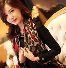New Women Ladies Leopard Stylish Long Soft Silk Chiffon Scarf Wrap Shawl Scarves