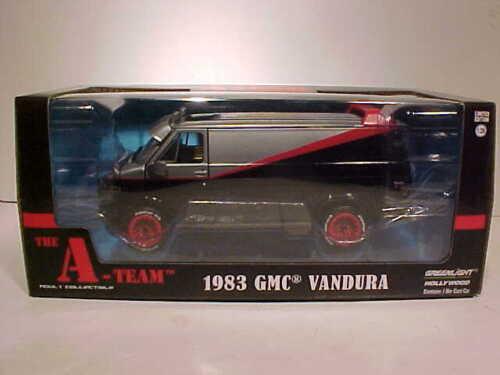 L/'A-team telefilm 1983 GMC Vandura Van Diecast Auto 1:24 Greenlight 8 pollici