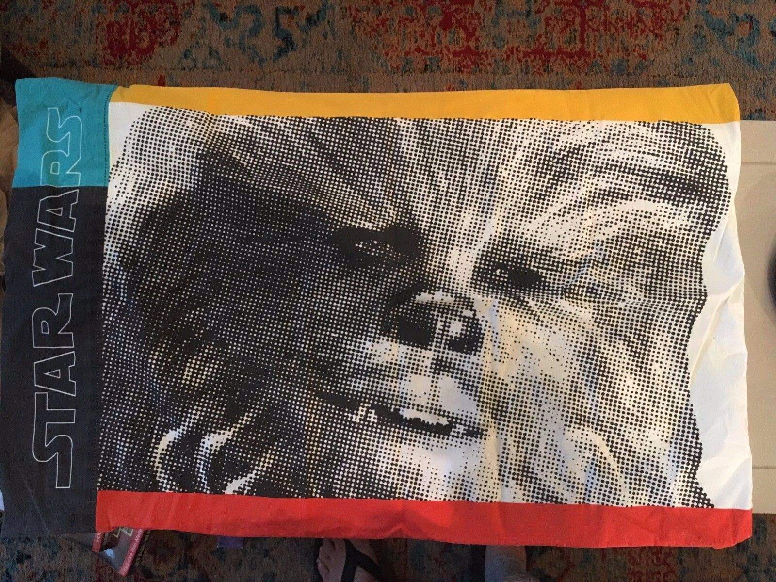 Star Wars Han Solo & Chewbacca reversible pillowcases 1997