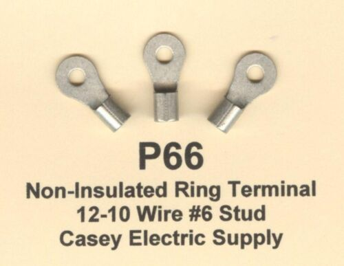 100 non isolée Anneau Terminal Connecteur des #12-10 Wire Gauge #6 Boucles