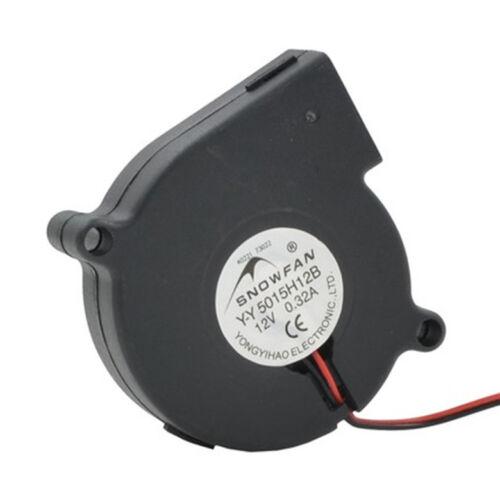 5015 Turbo Fan Ball Bearing DC Blower Hole Pitch 58MM YY5015H12B 12V 0.32A