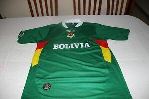 CAMISETA-FUTBOL-SELECCION-DE-BOLIVIA-DE-MARCA-EVERCCOL-TALLA-M-COTIZADA-SHIRT