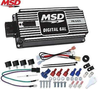 MSD 64253 Black Digital 6AL Ignition Control Box with Built-In Rev Limiter