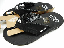 REEF WOMENS SANDALS FANNING BLACK SIZE 8