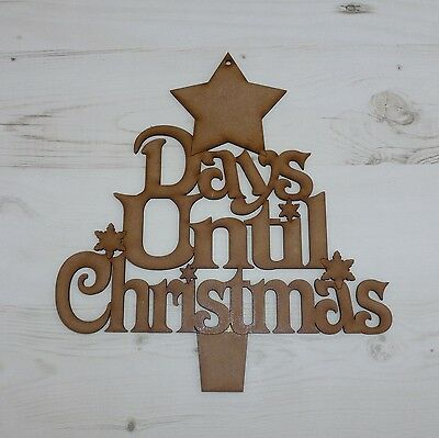 Days Till Christmas Chalkboard.Countdown Plaque Days Until Christmas Star Plaque Wood Mdf Chalkboard Mdf Ebay