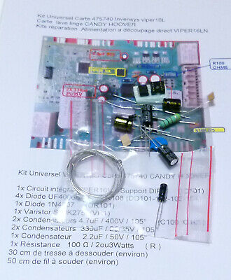 Kit  reparation Carte 475540 Invensys viper12A   lave linge CANDY HOOVER