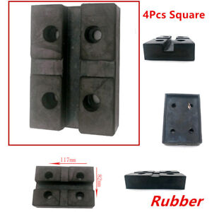 Thick And Durable 4PCS Heavy Duty Square Rubber Arm Pads Lift Pad For Car Lift
