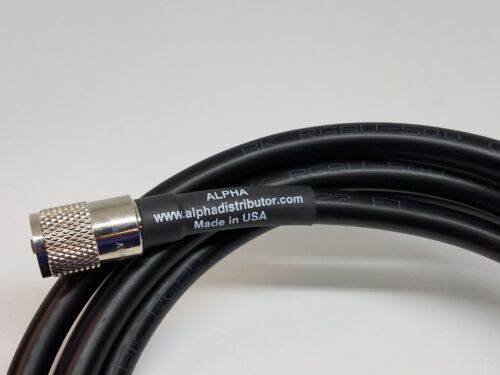 ALPHA 50ft RG8u Coax Cable with AMPHENOL PL259s attached