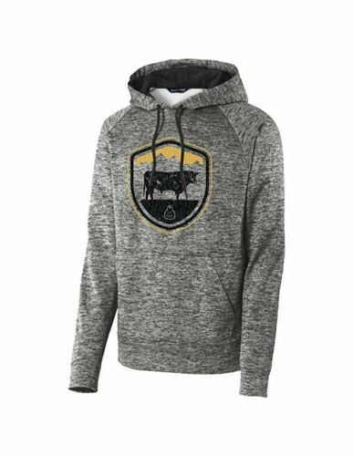 STS Ranchwear Western Sweatshirt Mens Crest Hood Black STS225EB
