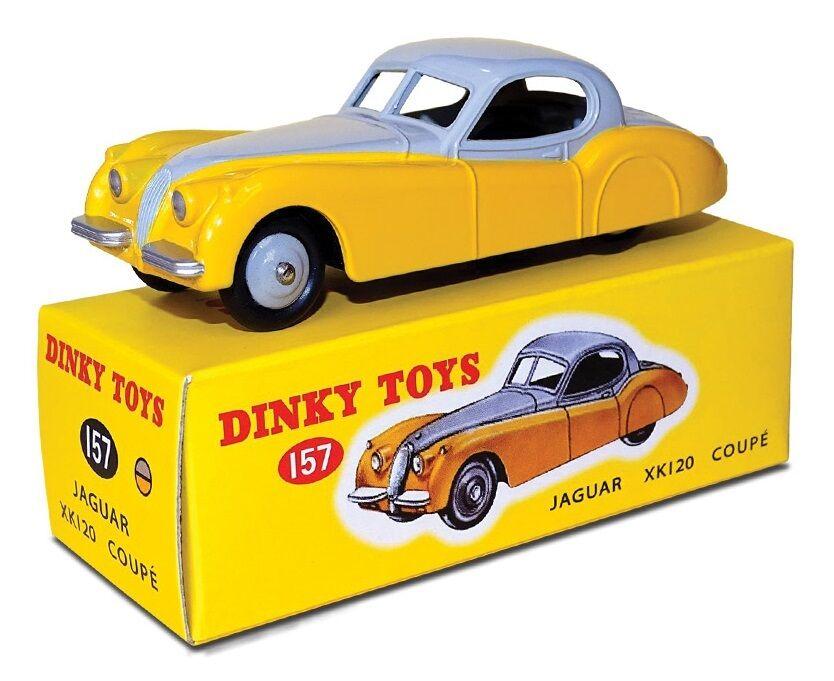 buena calidad DISPONIBLE DINKY TOYS ATLAS JAGUAR XK 120 COUPE BIColor 1 1 1 43 REF 157 EN BOX  mejor calidad
