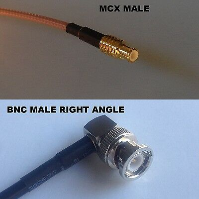 RG316 MCX MALE to BNC FEMALE Coaxial RF Cable USA-US