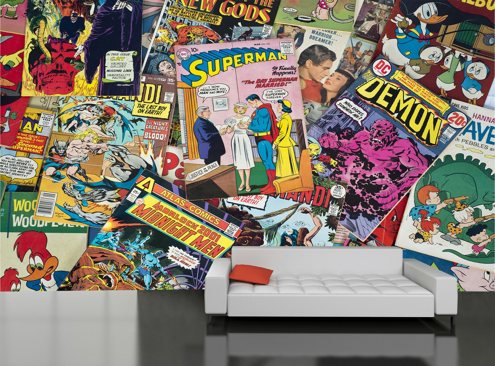 Old Comic Book Wall Mural Photo Wallpaper GIANT DECOR Paper Poster Free Paste
