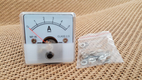 Current Analogue DC 0-5A Class-2.5 45mm x 45mm Ammeter  Panel Amplifier 5A Meter