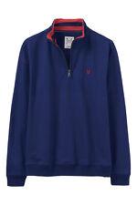 New Crew Clothing Mens 1/2 Zip Solid Sweatshirt in Blue