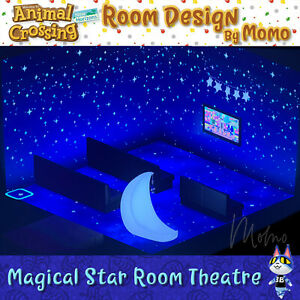 Magical Star Room Theater ⭐ Animal Crossing New Horizons ... on Animal Crossing Room Ideas New Horizons  id=78965