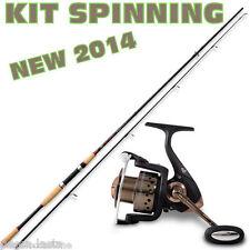 kit per lo spinning canna in carbonio da 2,10 mt e mulinello pesca lago PL1347