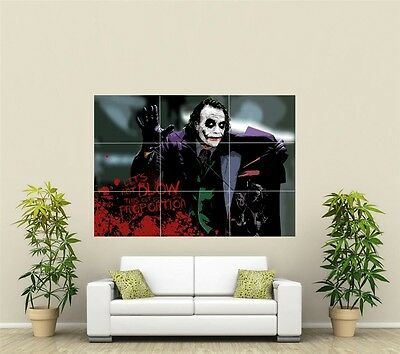 Heath Ledger The Joker  Giant XL Section Wall Art Poster TVF106
