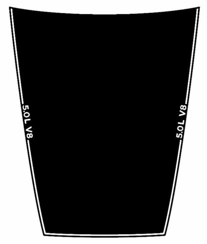 2015-2019 FORD F-150 VINYL HOOD DECAL STICKER GRAPHIC STRIPE