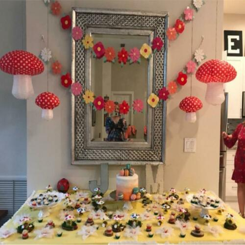 1Pcs Large Mushroom Shaped Paper Lanterns for  Birthday Party Decor Hanging 3D