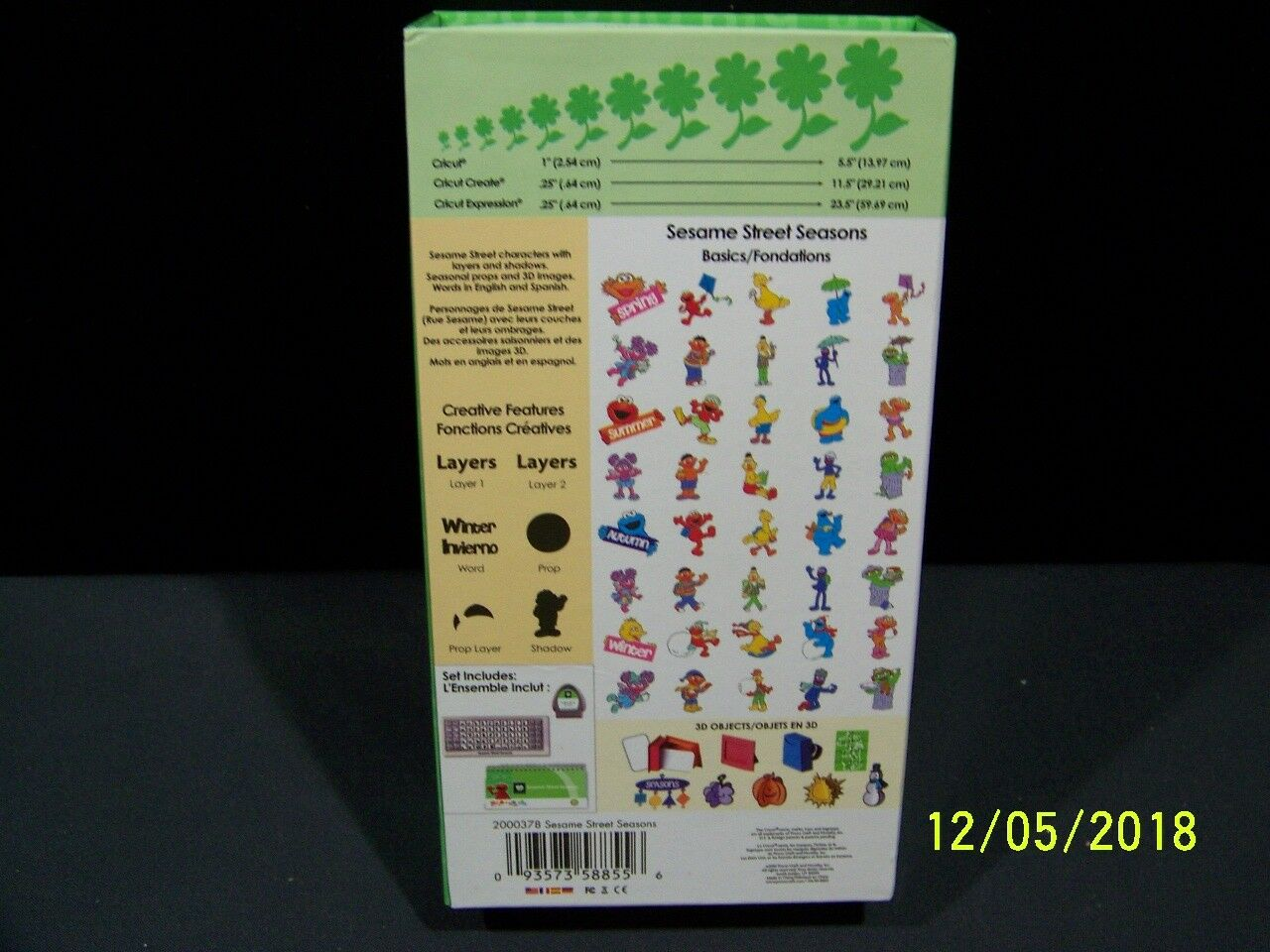 Cricut Cartridges Sesame Street Seasons Cartridge Ud1