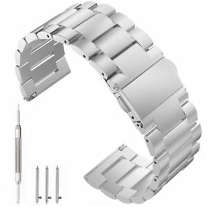 Stainless-Steel-Metal-Strap-Watch-Band-For-Samsung-Gear-S3-Replace-Silver-22MM