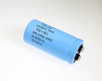 1x 10000uF 75V Large Can Electrolytic Aluminum Capacitor 10000MFD 75VDC 10,000