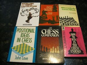 lot of 6 chess books in good condition free shipping  ebay